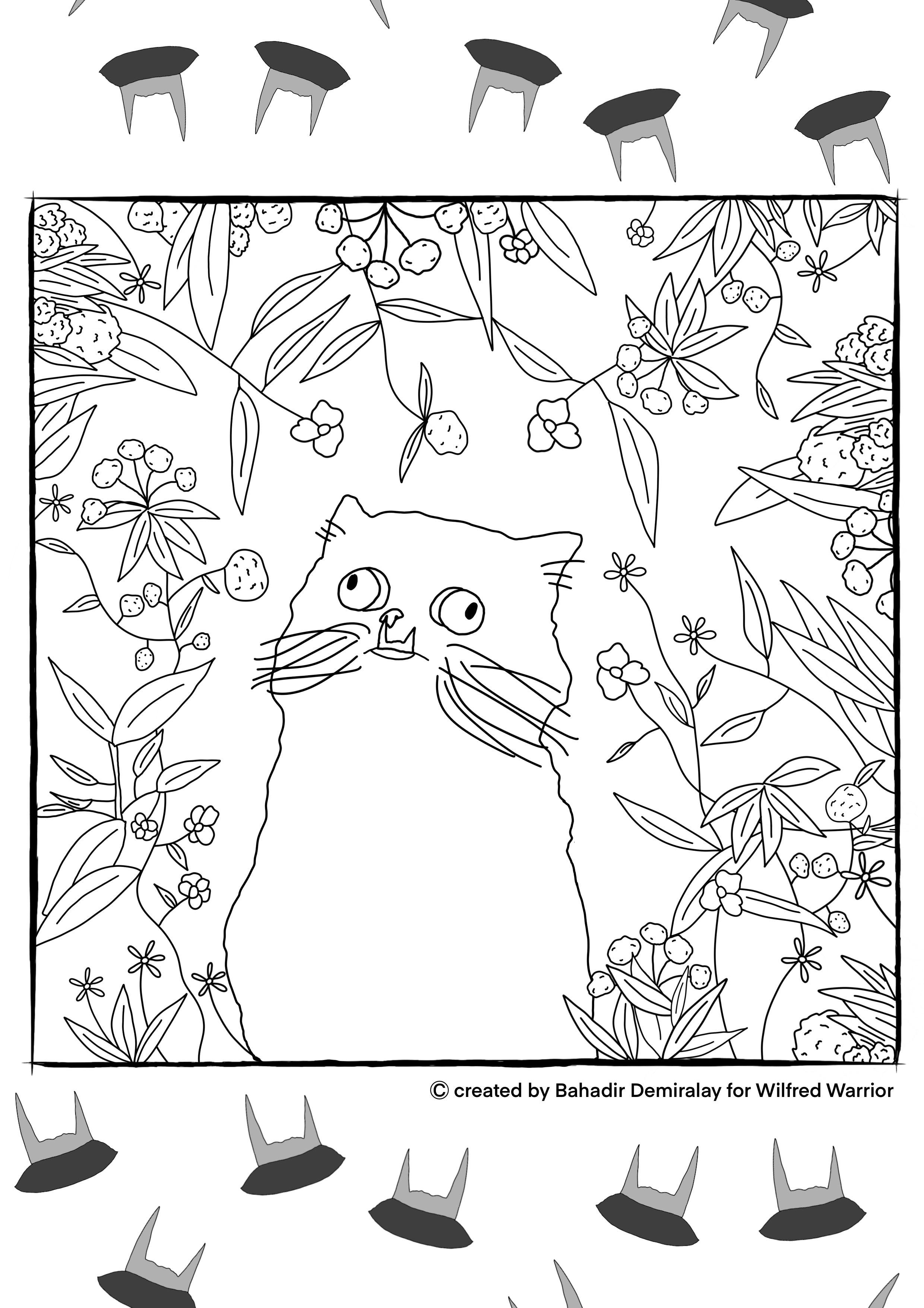 """Art Therapy with Wilfred"" Coloring eBook (PDF for printing)"