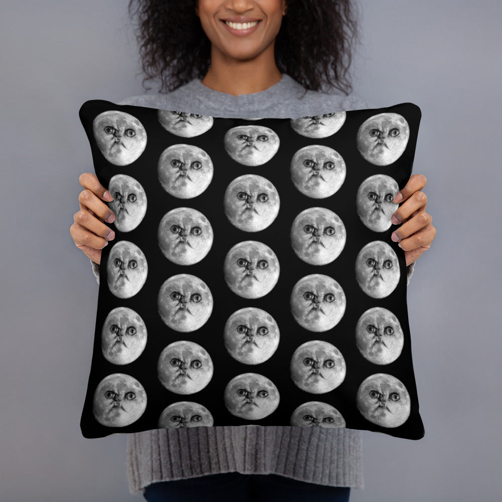 Wilfred Warrior Moon Face Pillow