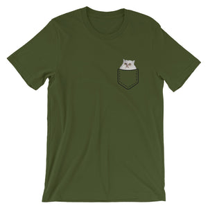 Wilfred in a Pocket T-Shirt (unisex)