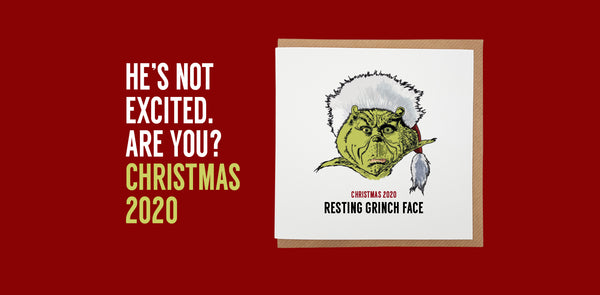 the grinch resting grinch face. A town called home unique and funny christmas card range