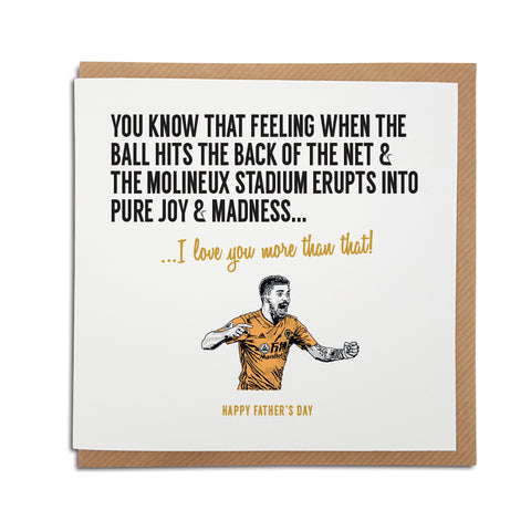 Wolves football club Father's Day card - molineux stadium