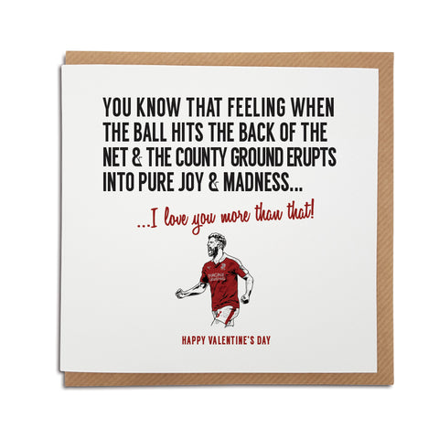 A handmade Swindon Town Football Club Card designed by A Town Called Home. A unique card, perfect for a Robins supporter on all occasions.
