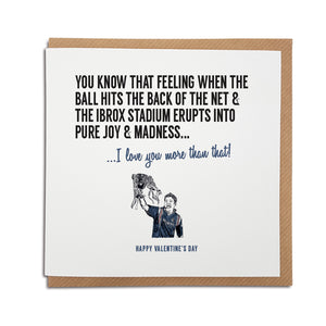 Glasgow Rangers football club Valentine's Day card featuring illustration of Ally McCoist