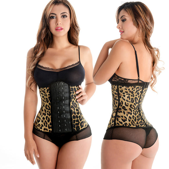 Leopard Print Latex Waist Trainer