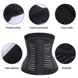 4 Steel Bone Elastic Waist Trainer