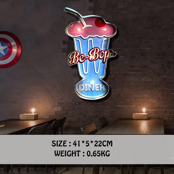 20 Styles Vintage LED Light Neon Signs Decorative Painting For Pub Bar Restaurant Cafe Advertising Signage Hanging Metal Signs