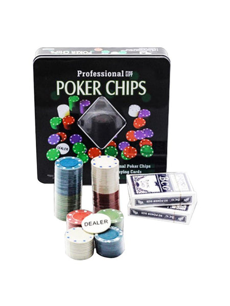 2020 Casino Set Texas Poker Chips 100 Pieces Game Tokens Fine Plastic Chips Games Cards Party