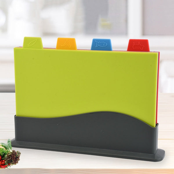 4Pcs/Set Kitchen Multifunctional Plastic Cutting Board Eco Friendly Food Grade Chopping Board Kitchen Accessories