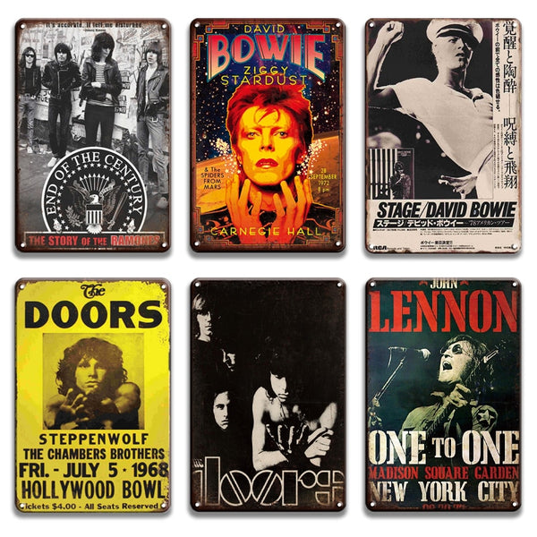 Lennon metal poster tin sign vintage Rock Sign Wall Sticker Decorative Plaque Irish pub bar man cave home wall decor room decor