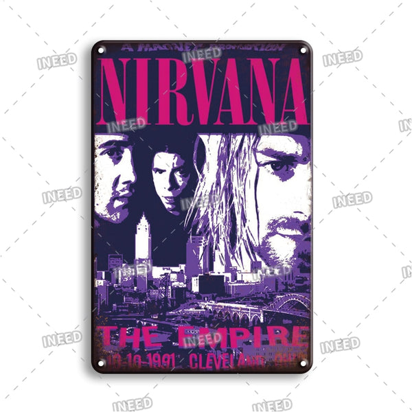 Nostalgic Pop Star Tin Poster Sign Vintage Rock N Roll Metal Plaque Sign Music Tiki Bar Art Wall Decor Plate Personal Room decor