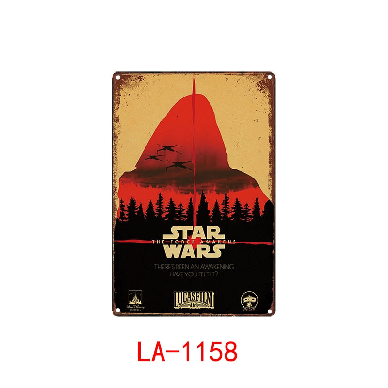 Star Wars Metal Poster Plaque Metal Vintage Classic Movie Metal Tin Sign Wall Decor for Bar Iron Painting