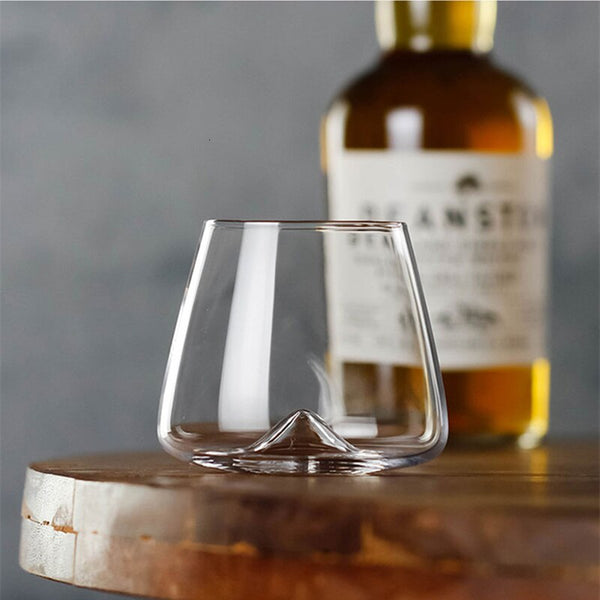 Whiseddy Crystal Scotch Whiskey Glass Rocks Glasses Tumbler Eddy Bottom Swirl Designer Wine Cup For Bar Verre Whisky Shot Glass