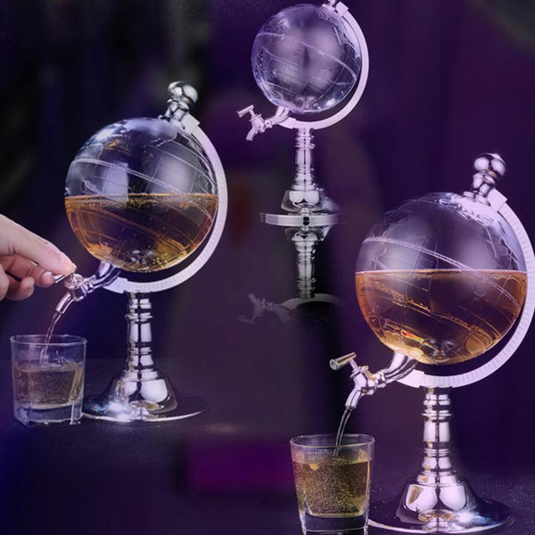 Whiskey Decanter Set Globe Dispenser Antique Glass Liquor Wine Dispenser Western Restaurant Bar Props