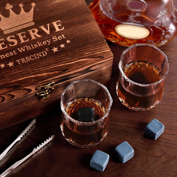 Whiskey Stones Gift Set Quick-freezing Ice Block Whiskey Marble Ice Block For Father Boyfriend Christmas Present
