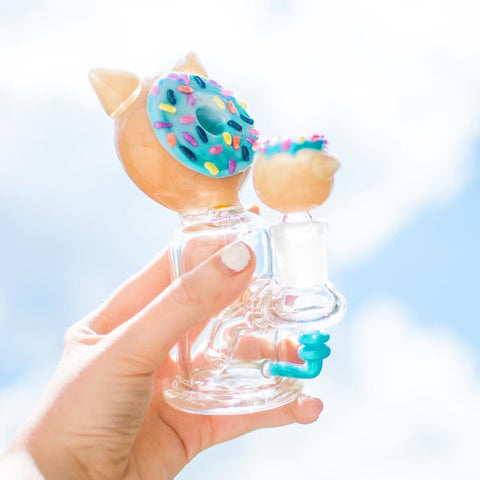 "Empire Glassworks ""Kitty Donut"" Glass Bong"