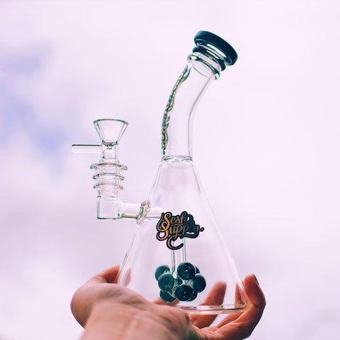 Sesh Supply Phorbas Glass Beaker Bong