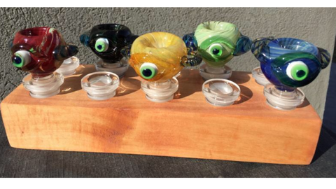 The Breakfast Bowl Water Pipe Cereal Bowl with Cyclops slide at CaliConnected, your favorite online headshop