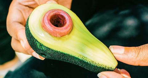 "Empire Glassworks ""Avocadope"" Spoon Hand Pipe at CaliConnected Online Headshop"