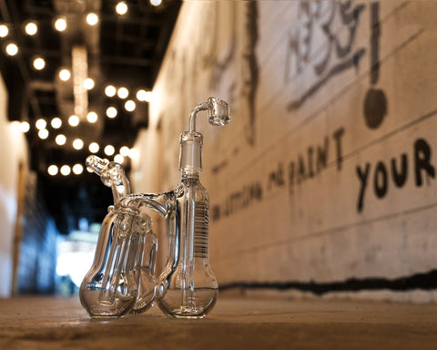 UPC Triple Bubbler Dab Rig made with super thick 50mm x 5mm glass at CaliConnected Headshop