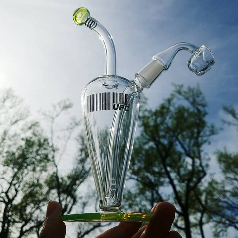 "UPC 8"" Tear Drop Bubbler Concentrate Rig - 14mm Joint at CaliConnected Online Headshop"