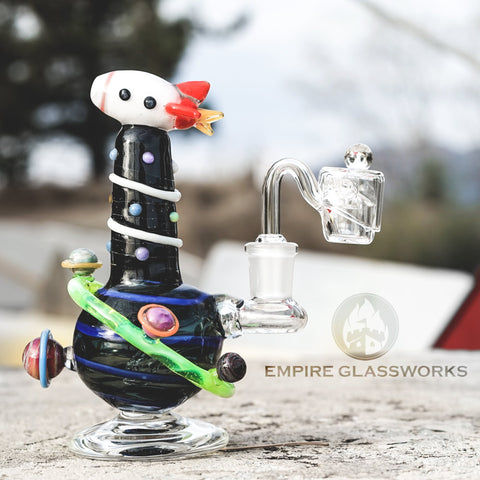 Empire Glassworks Space Ship Dab Rig