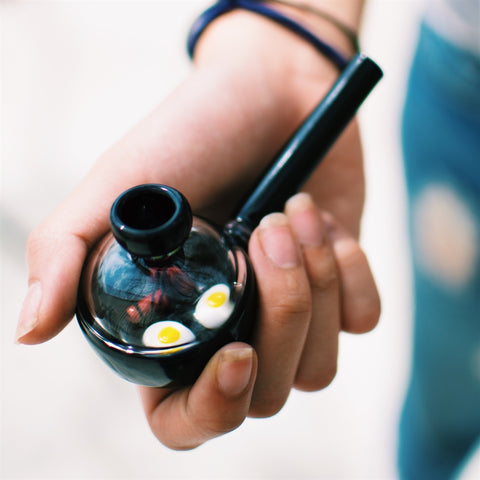 Breakfast Frying Pan Glass Smoking Pipe