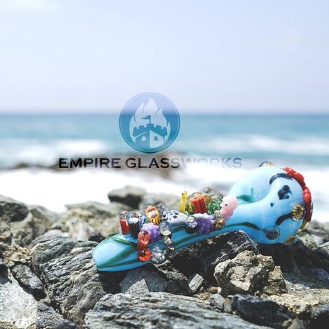 Empire Glassworks Great Barrier Reef Hand Pipe