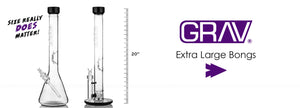 Grav Extra Large Glass Bongs