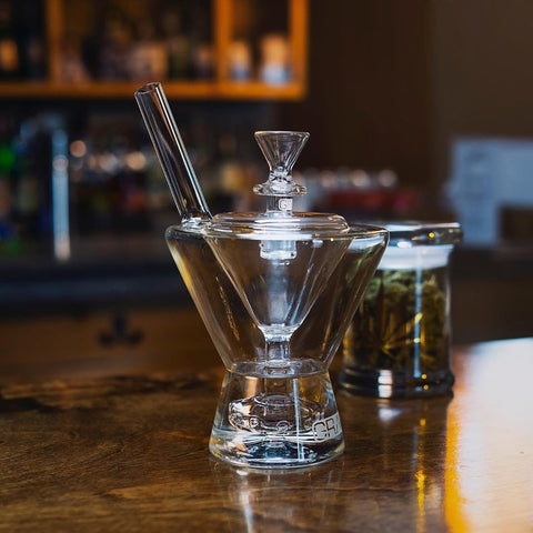 Grav Martini Glass Water Pipe