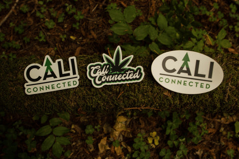 CaliConnected Weed Leaf Stickers