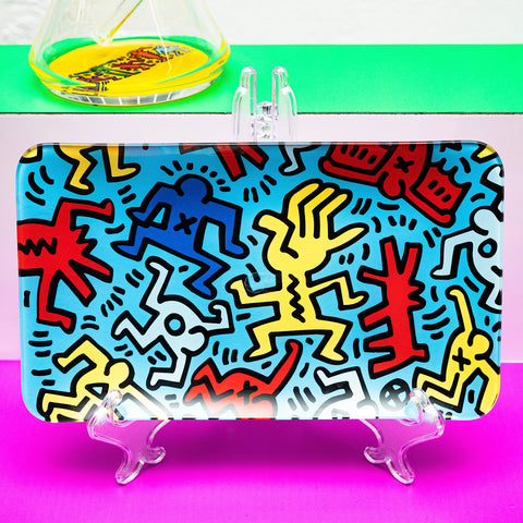 K. Haring Glass Rolling Tray