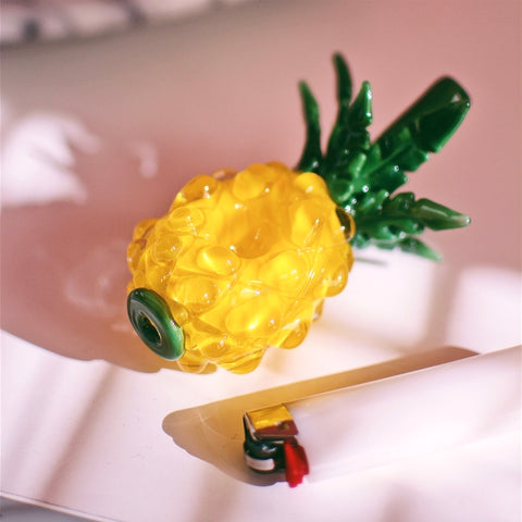 Glass Pineapple Hand Pipe