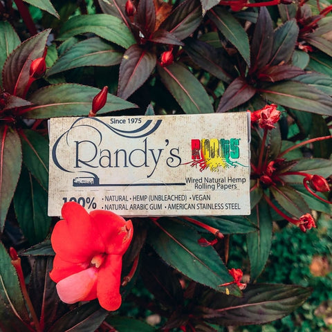 """Randys Roots 1 1/4"""" Organic Hemp Wired Rolling Papers"""