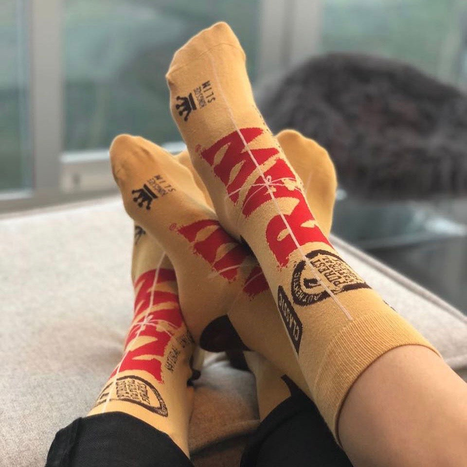 Raw Rolling Papers Socks