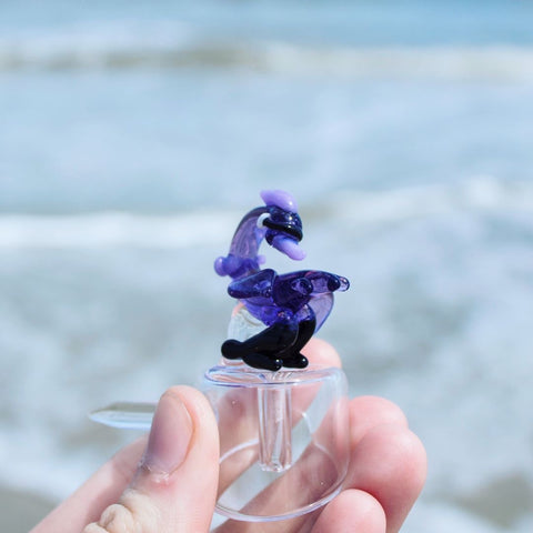 Sesh Supply Purple Stork Carb Cap