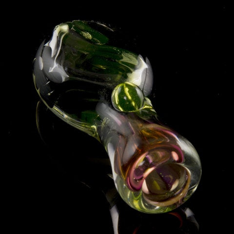 "Flat Belly ""Noctiluca"" Illuminati Glass Chillum"