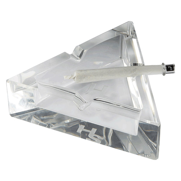 Higher Standards Crystal Glass Ashtray