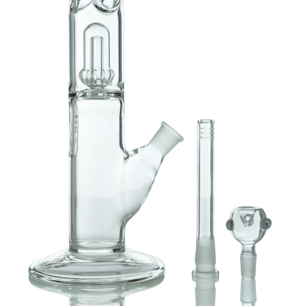 UPC 5mm Thick Glass Straight Tube with Showerhead Percs - Affordable vaporizers and quality glass bongs, water pipes, dab rigs and more at the best online headshop - CaliConnected