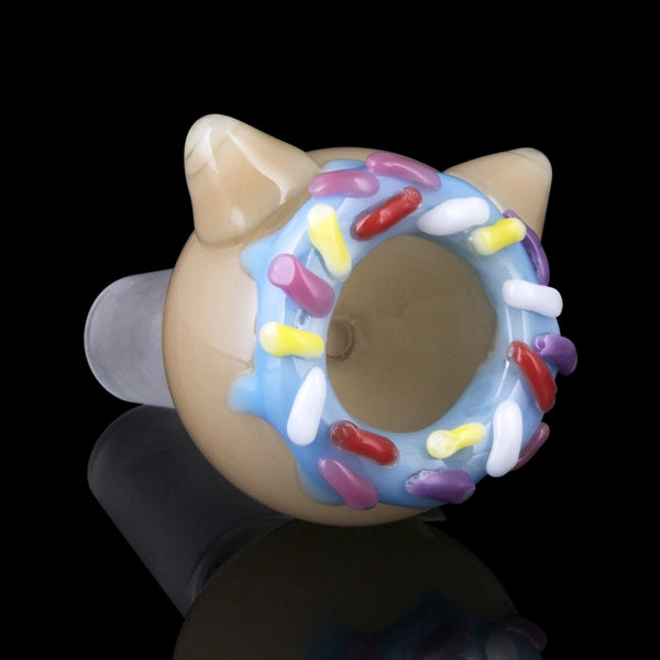 "Empire Glassworks 🐱 ""Kitty Donut"" 🍩 Flower Bowl Piece"