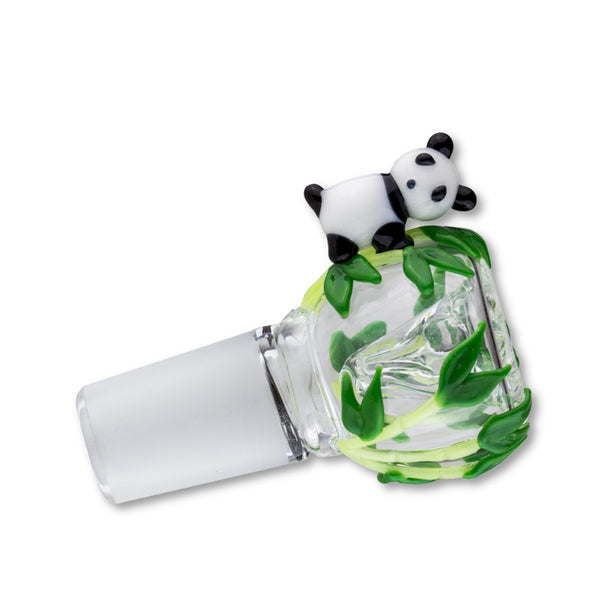 "Empire Glassworks ""Panda Cub"" Diffused Bowl Piece 🐼"