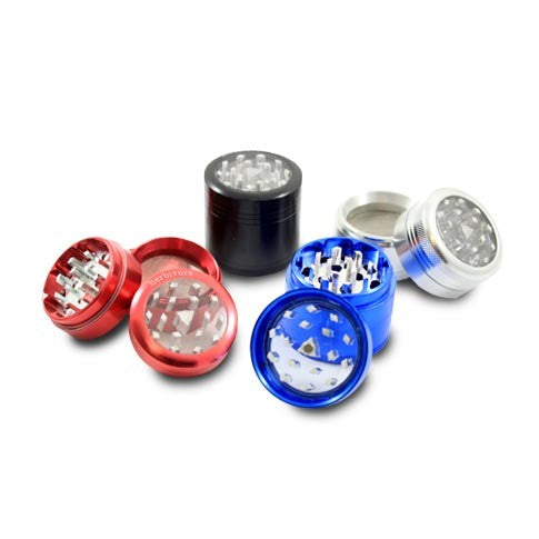 Large 4-Piece Clear-Top Grinder - CaliConnected - Affordable wax and dry herb vaporizers eRigs & eNails, high quality glass bongs, cheap water pipes, wax concentrate dab rigs and unique smoking accessories at the best online smoke shop - CaliConnected Online Headshop