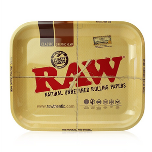 RAW Classic Large Vintage-Style Metal Rolling Tray