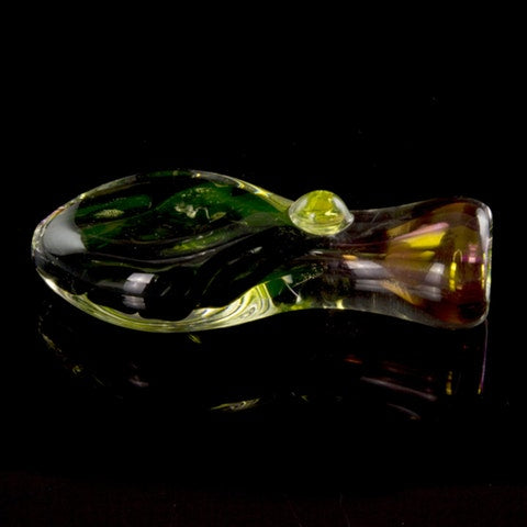 """Noctiluca"" Flat Belly Illuminati Glass Chillum - Affordable vaporizers and quality glass bongs, water pipes, dab rigs and more at the best online headshop - CaliConnected"