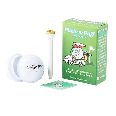 Puffingtons Pitch-N-Puff Golf Combo Pack - CaliConnected - Affordable wax and dry herb vaporizers eRigs & eNails, high quality glass bongs, cheap water pipes, wax concentrate dab rigs and unique smoking accessories at the best online smoke shop - CaliConnected Online Headshop