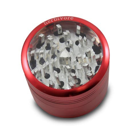 Large 4-Piece Clear-Top Grinder