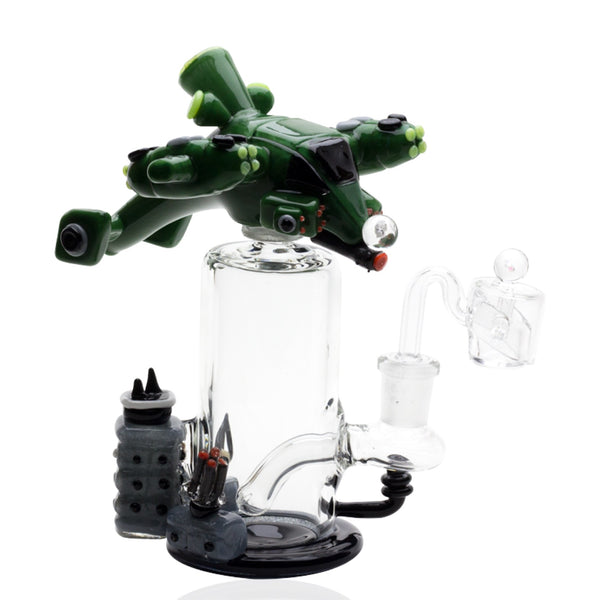 "Empire Glassworks ""Gun Ship"" Tiered Dab Rig"