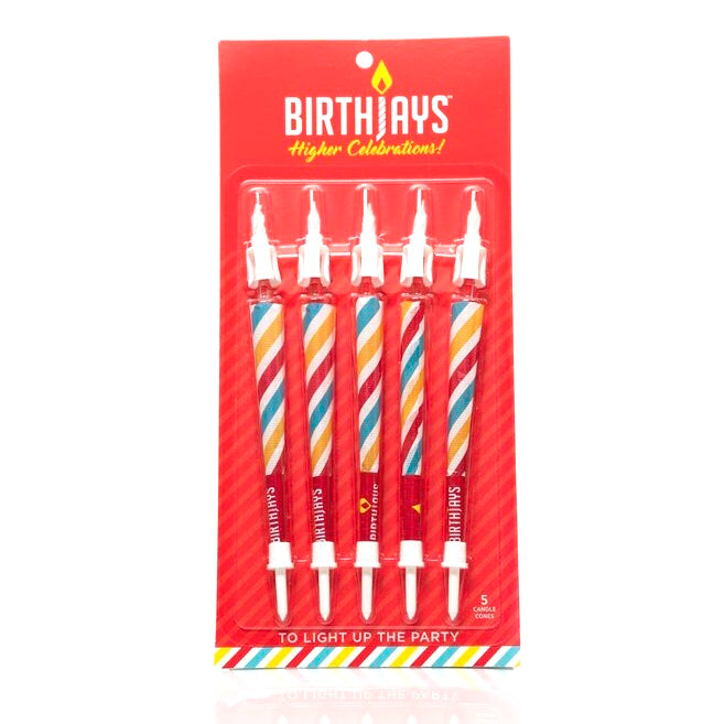 BirthJays Pre-Rolled Joint Birthday Candles (5-Pack) 🎂