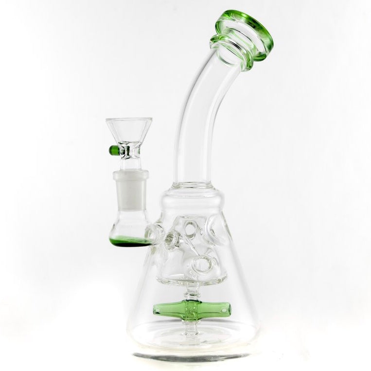 CaliConnected Mini Beaker Bong w. Helicopter Perc 🚁