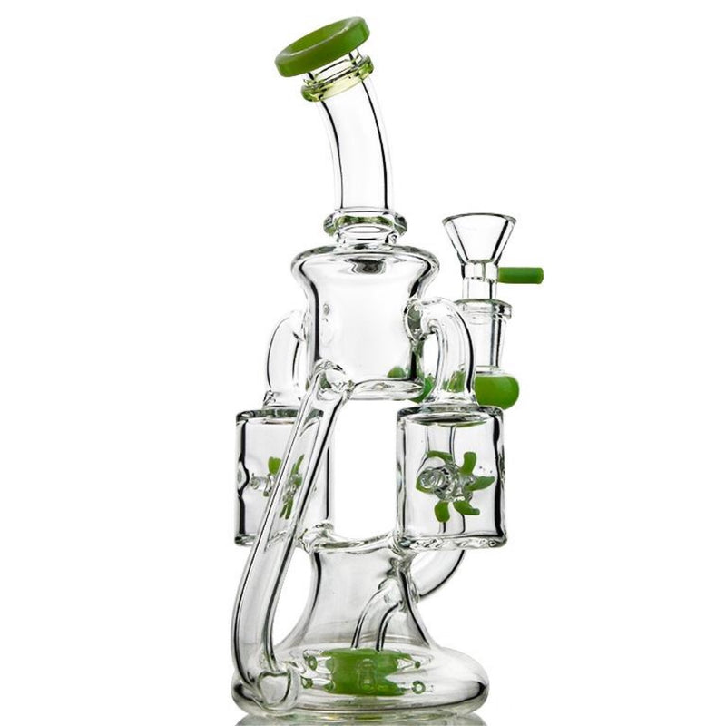 "CaliConnected 10"" Double Windmill Recycler Bong 🌪"