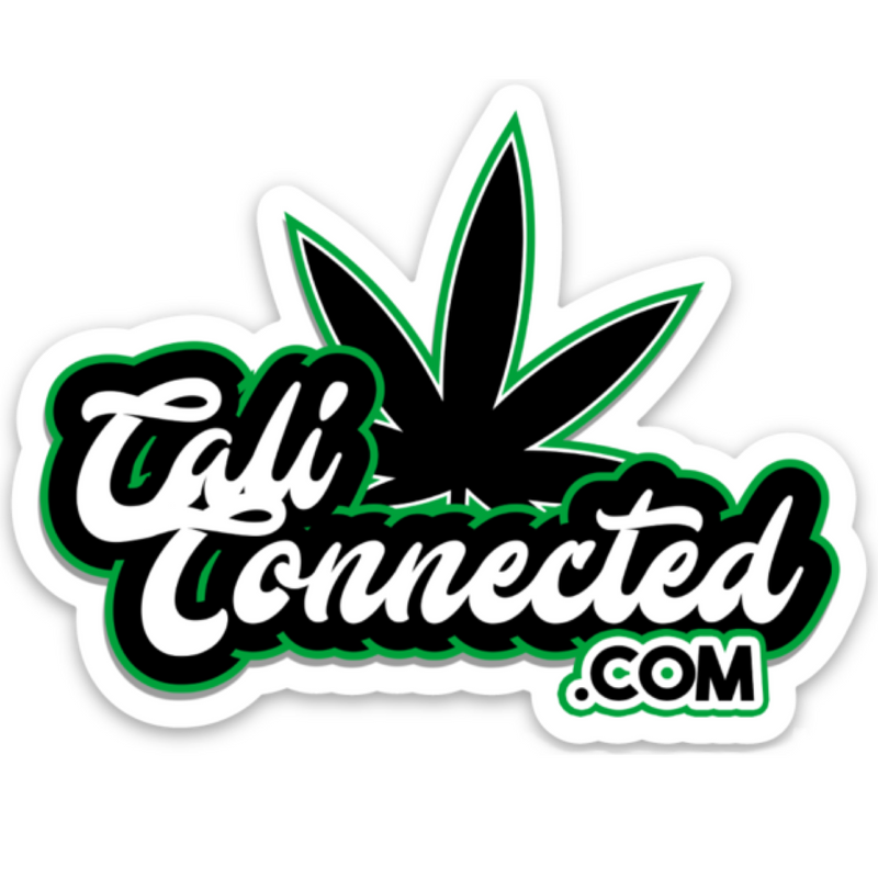 CaliConnected.com® Weed Leaf Sticker 🍁